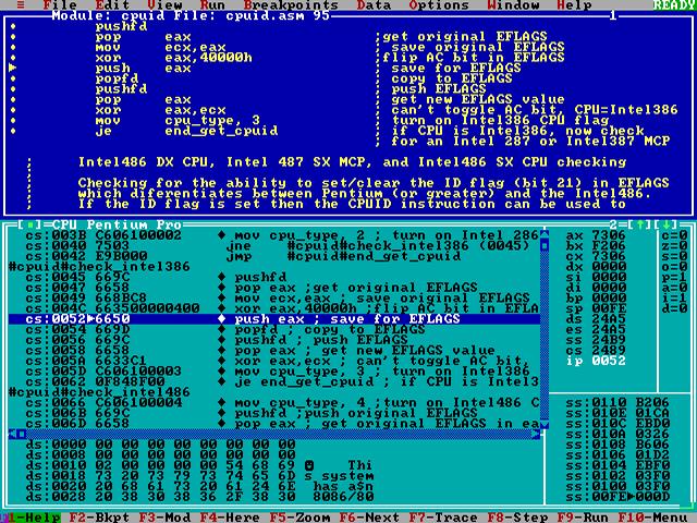 ... / compilers / assemblers / turbo assembler 5 (tasm) / screenshot: www.phatcode.net/downloads.php?id=280&image=td.png